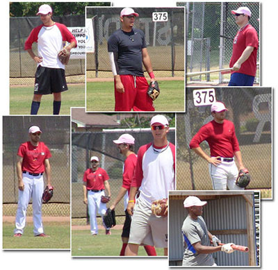 Hamilton Cardinals wearing Pink Hats